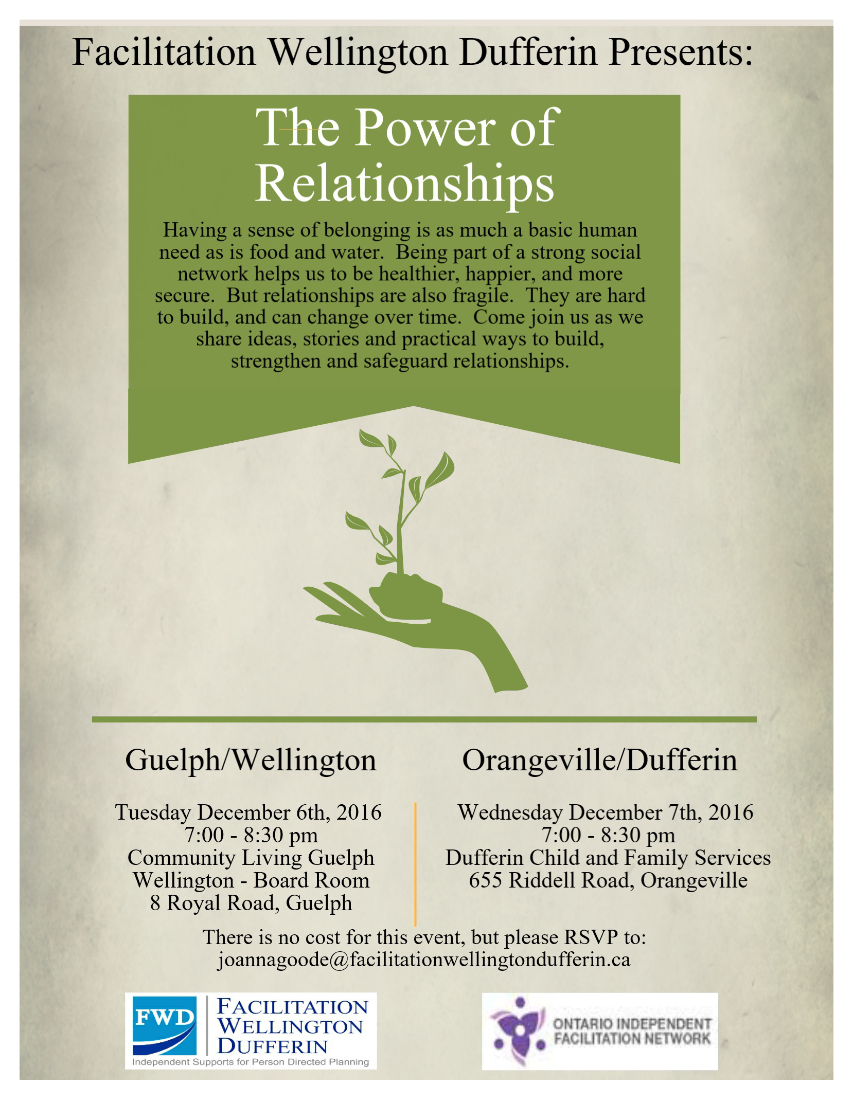 flyer for the power of relationships