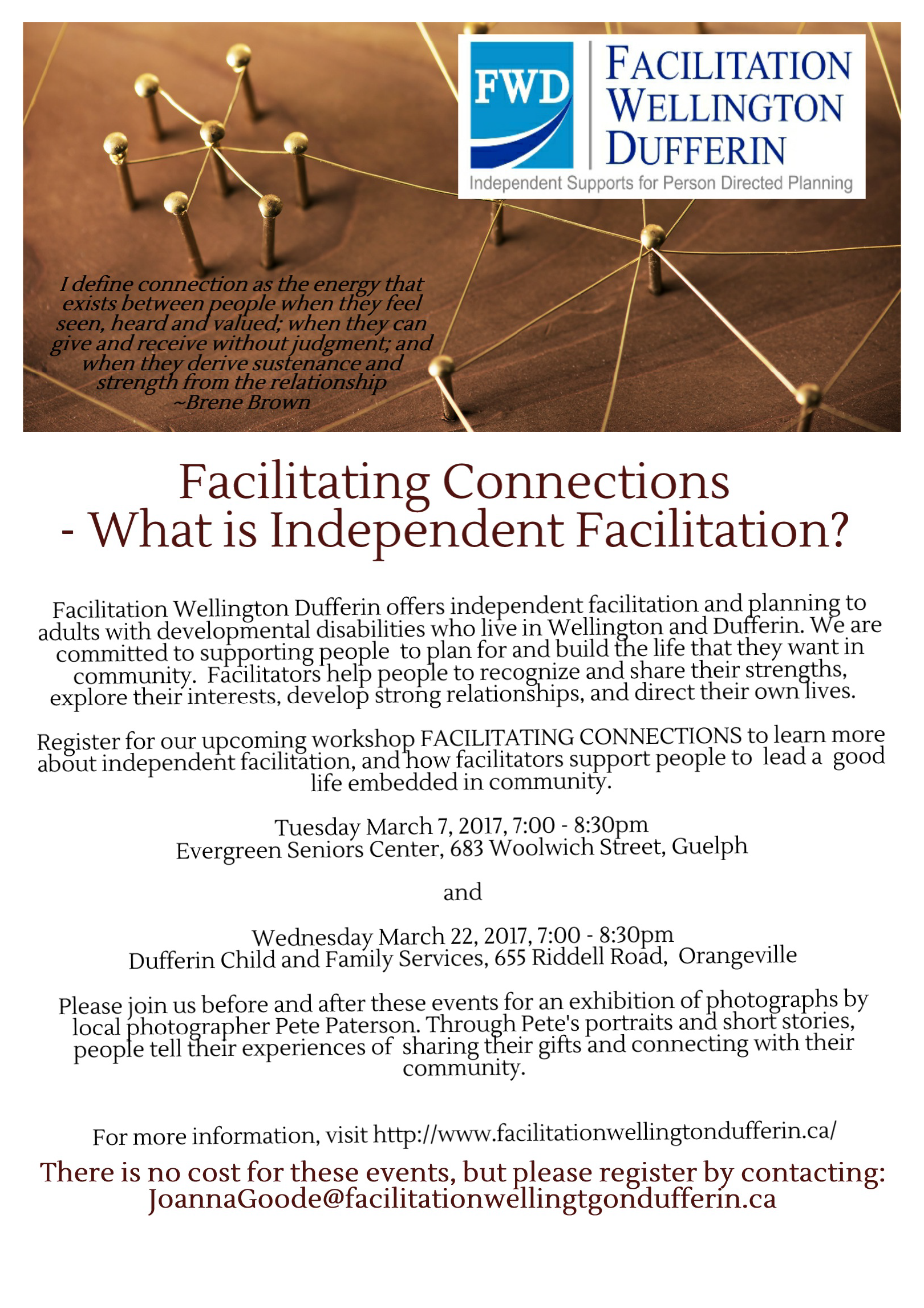 Facilitating Connections Flyer
