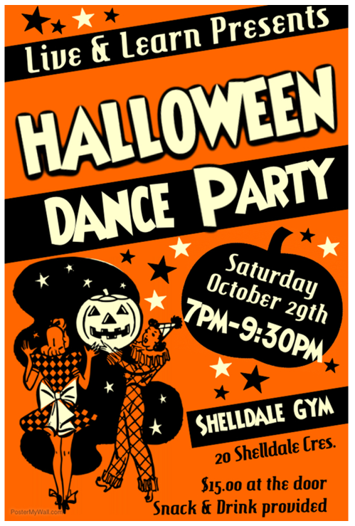 Halloween Dance Party Oct 29th