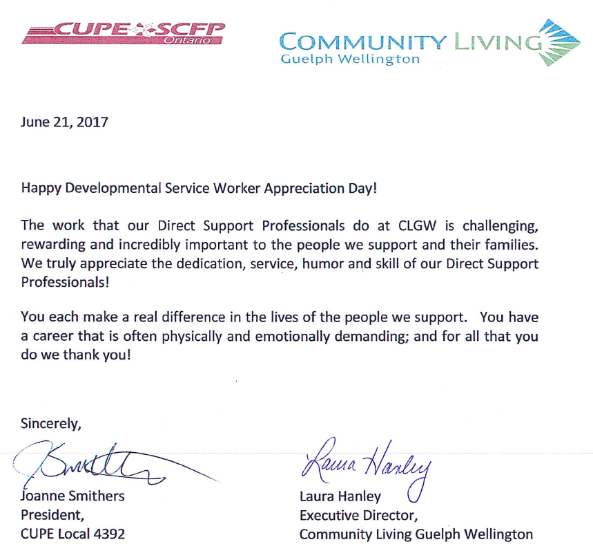 Happy Support Workers Appreciation Day