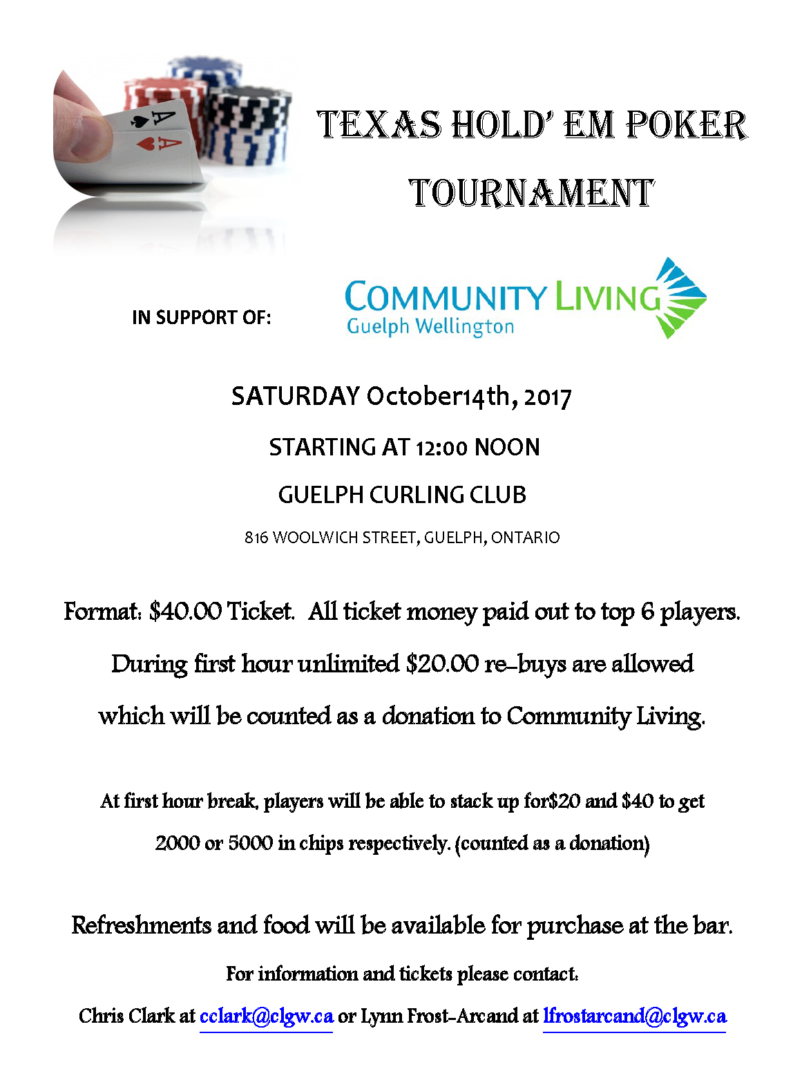 Poker Tourney Oct 14th at noon