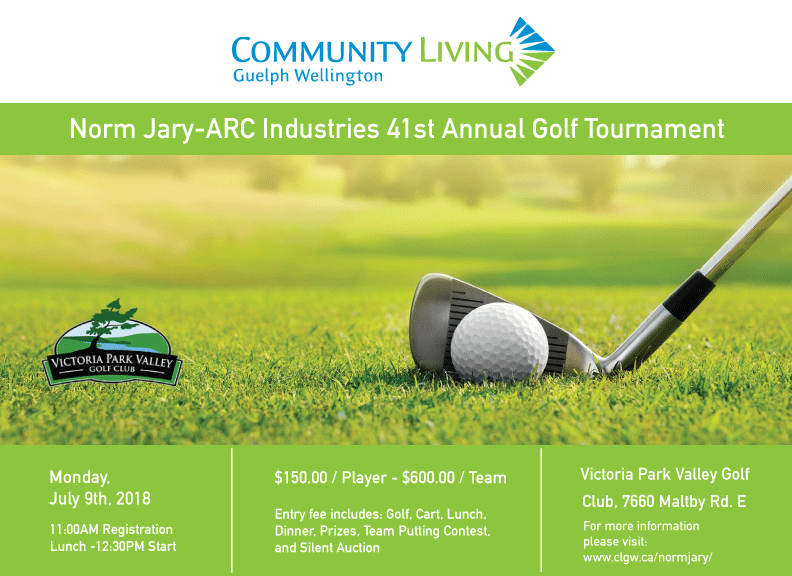 norm jary golf tournament community living guelph wellington